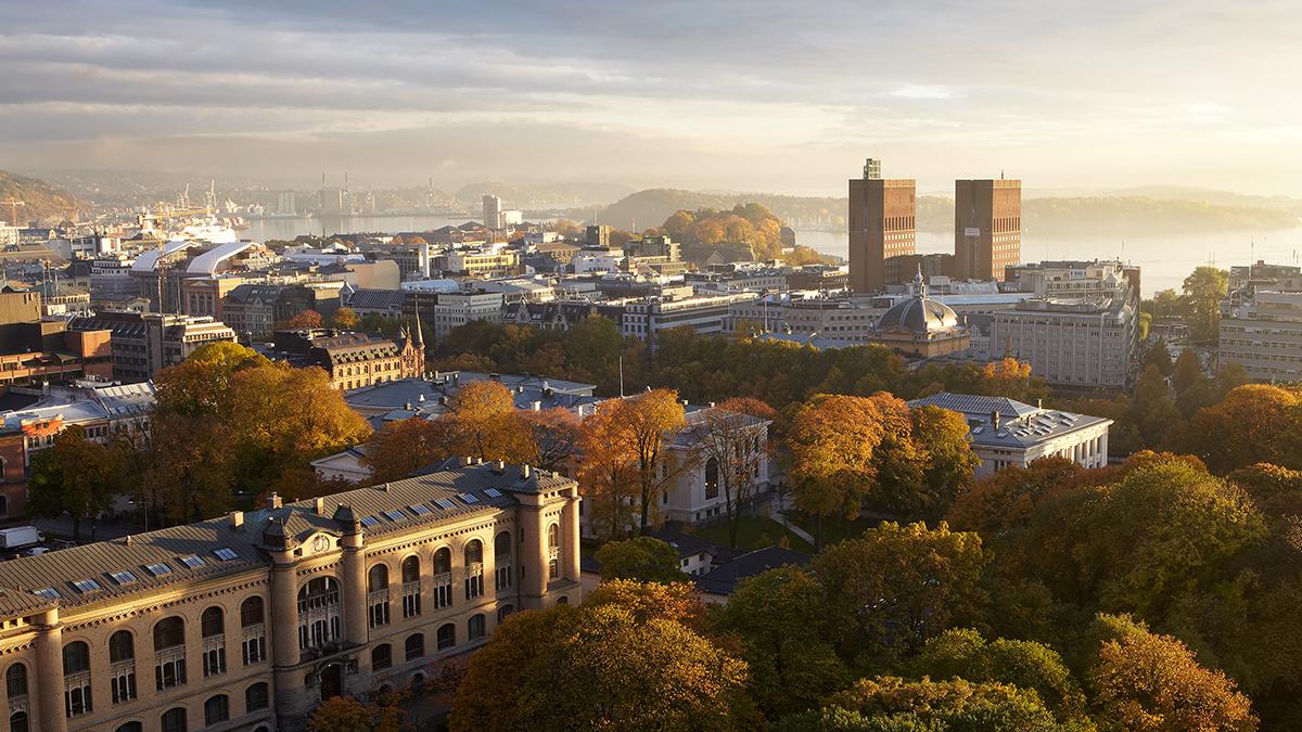 Oslo city skyline