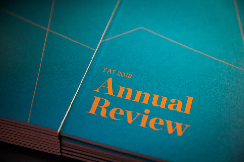 The front cover the 2018 edition of the EAT annual review