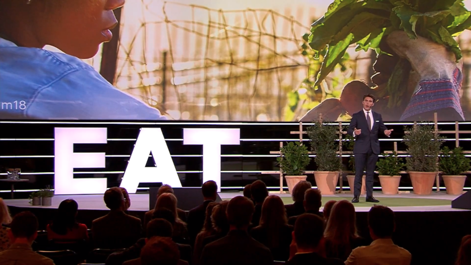Oliver English, Co-Founder & CEO of Common Table Creative, at the EAT Stockholm Food Forum 2018