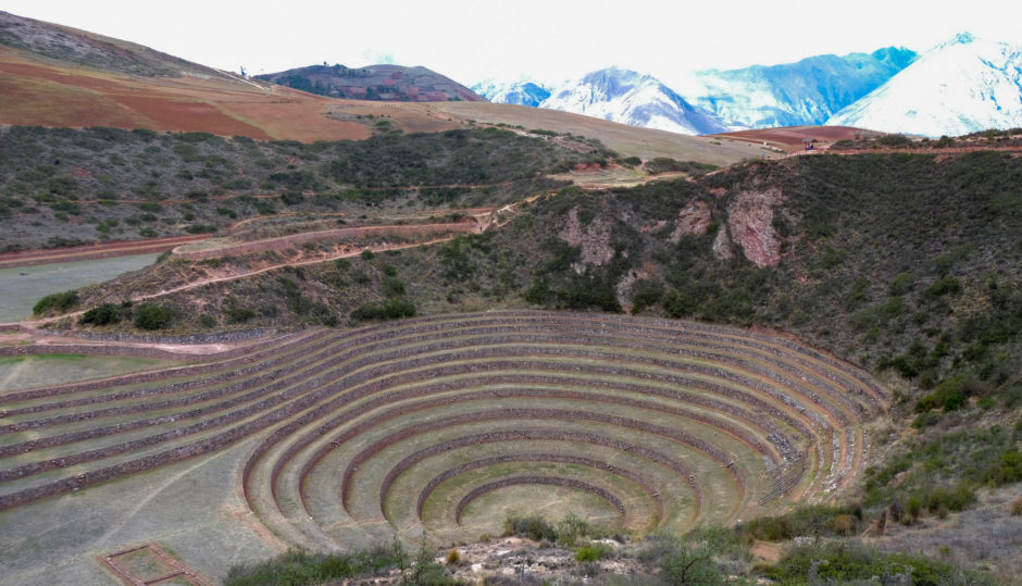 Andean mountains agricultural circles