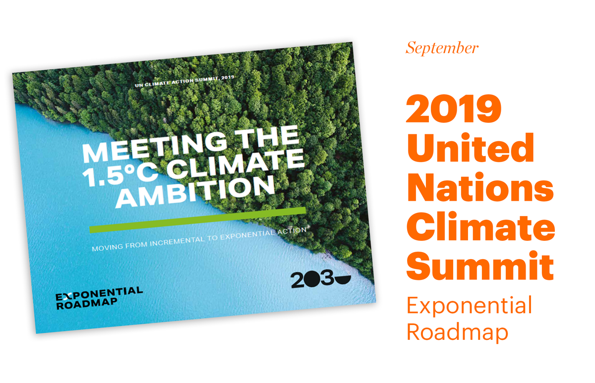 Report Cover UN Climate Summit Exponential Roadmap