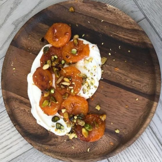 Ruby Aujla's roasted apricot dessert