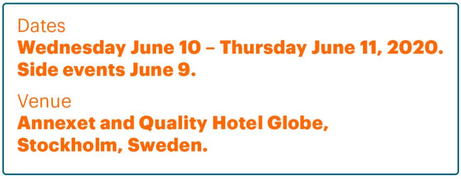EAT Stockholm Food Forum 2020 dates and venue